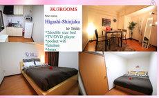 Shinjuku Tokyo;3rooms;Free