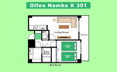 AirSpace Namba South 301- 1min to Namba station
