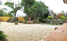 大きな庭園でBBQを楽しめて 縁側でゆったりと過ごす