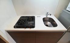 SJ Apartment Kamata A - キッチン(コンロ二口)