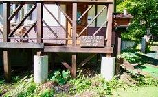 蔵王山麓の天然温泉付き貸切コテージ - アトリエフォレスト青根