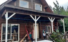 Onna Village loghouse.Natural Material Natural Life