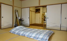 Relaxing in a Japanese-style room